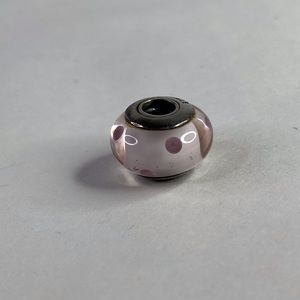 Pandora Pink Sterling Silver Glass Spacer Charm